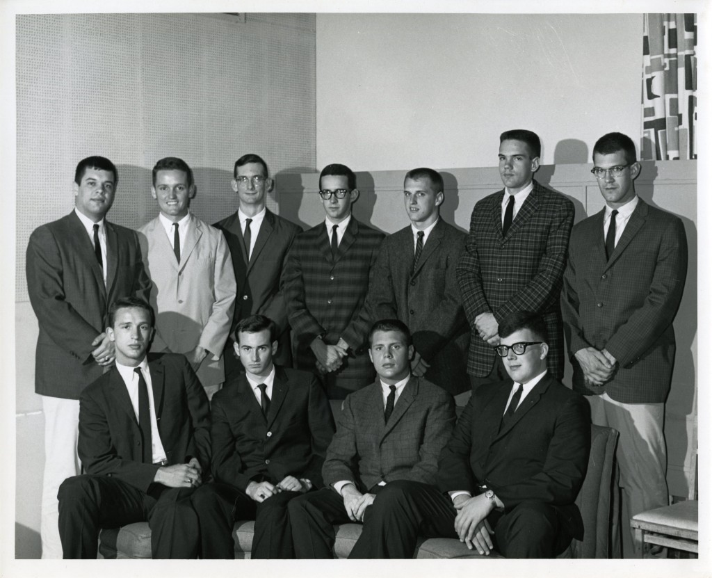 Possibly a meeting of Interfraternity Council in 1963 - students we have identified are: