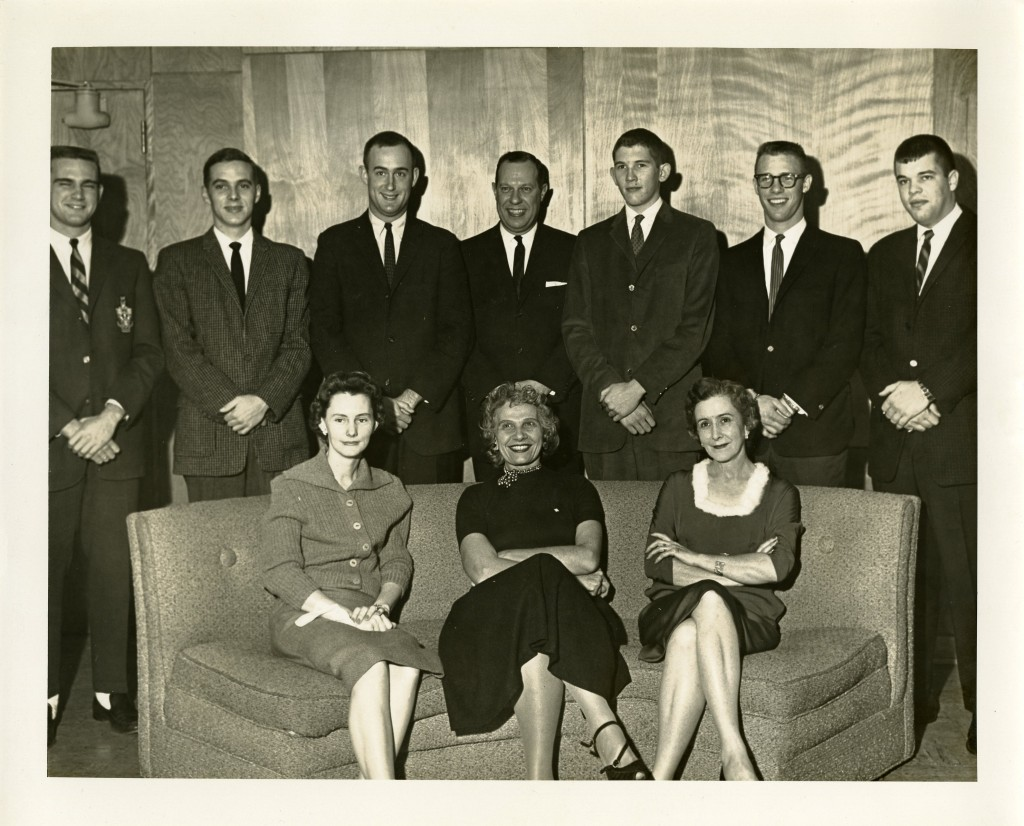 Another group shot, possibly from a college staff party in 1961.