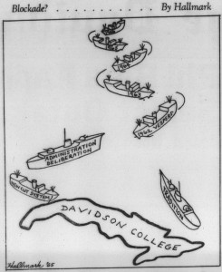 From 26 October 1962 showing a Cuba-shaped Davidson College caught between tradition and new vesper policies