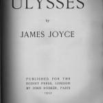Ulysses, Egoist Press, 1922