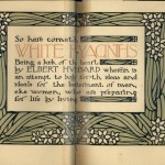 White Hyacinths Title Page