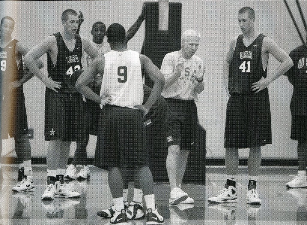 A more casual McKillop on the court with the USA U18 team, whom he coached to a silver medal in the 2008 FIBA Americas Championship.