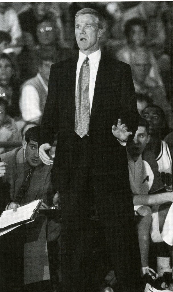 McKillop courtside, during the 1999 - 2000 season.