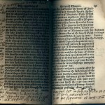 Marginalia and bookworm holes