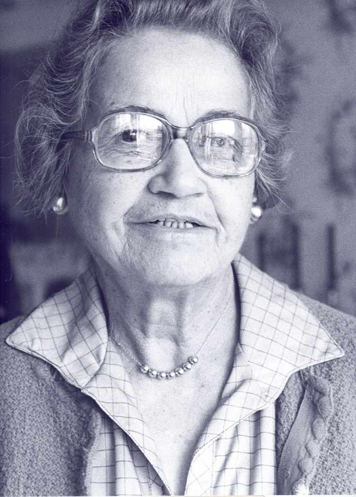 Janet Goldiere's Davidson Senior Citizen Center portrait, as photographed by Frank Bliss.