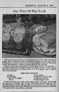 A recipe from 60 years ago