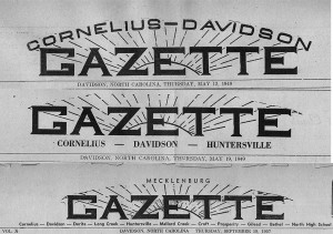 Changing masthead of the Gazette from 1946 to 1950