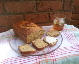 2015 version of Apple Sauce Nutbread - the bread is a little dry so the recipe's recommendation to serve with butter is a good one.