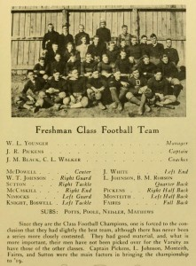 1916 Quips and Cranks account of the class of 1919's athletic debut.