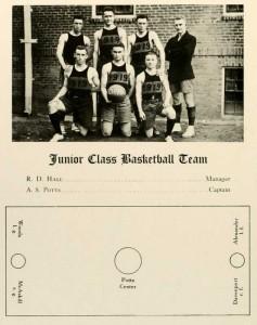 Class of 1919's team n 1918.