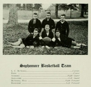 Intramurals in 1917 included both football and basketball-- but football was fading.