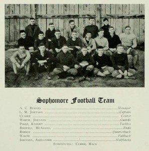 1917 Quips and Cranks page for the 1919's sophomore football team.