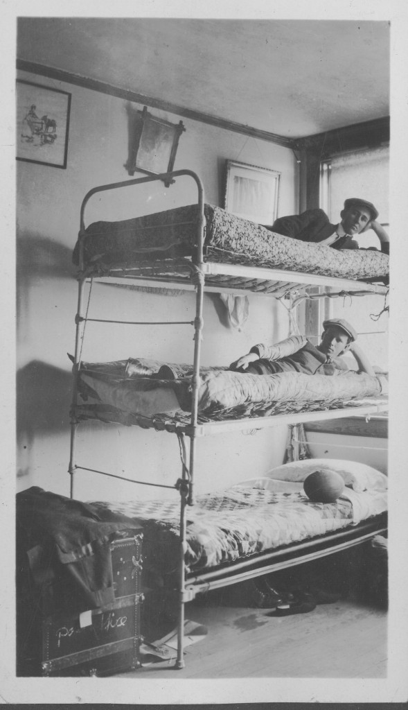 If current Davidson College students think their rooms are crowded, imagine how these triple decker bunk bed DC students of 1916 felt!