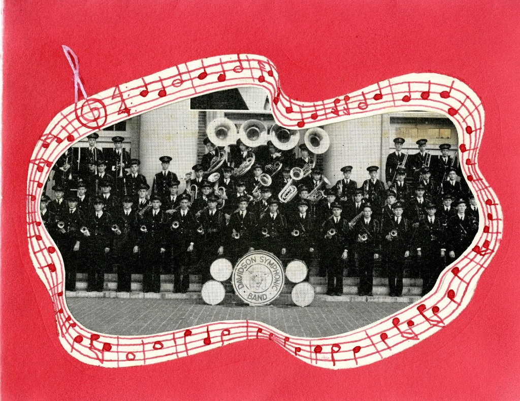 A Davidson Symphonic Band Christmas card, circa 1940s.