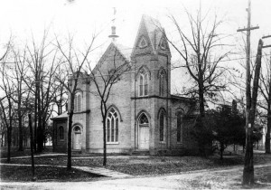 Original Davidson College Presbyterian Church building -- site of the 1891 New Year's wedding.