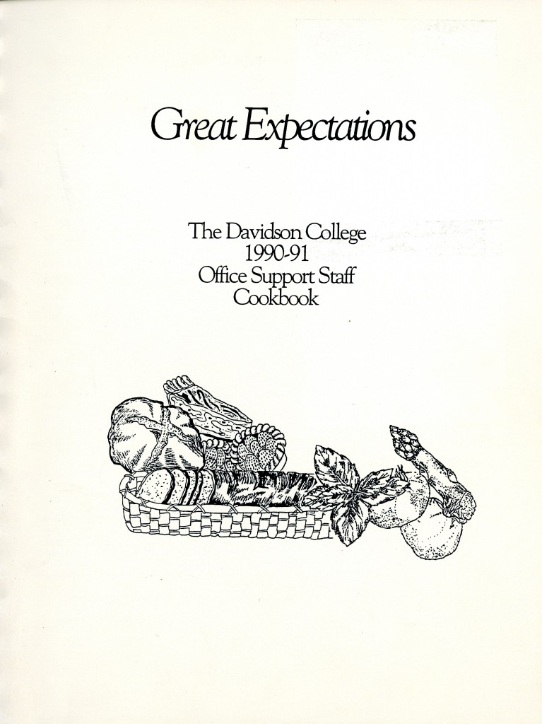 The cover of Great Expectations: The Davidson College 1990-1991 Office Support Staff Cookbook