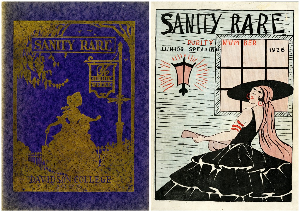 Covers of the 1925 and 1926 issues of Sanity Rare.