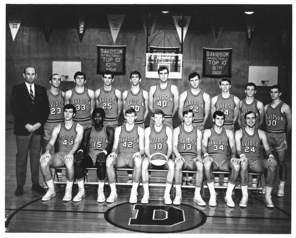 The 1968-1969 basketball team - Mike Maloy is seated second from left.