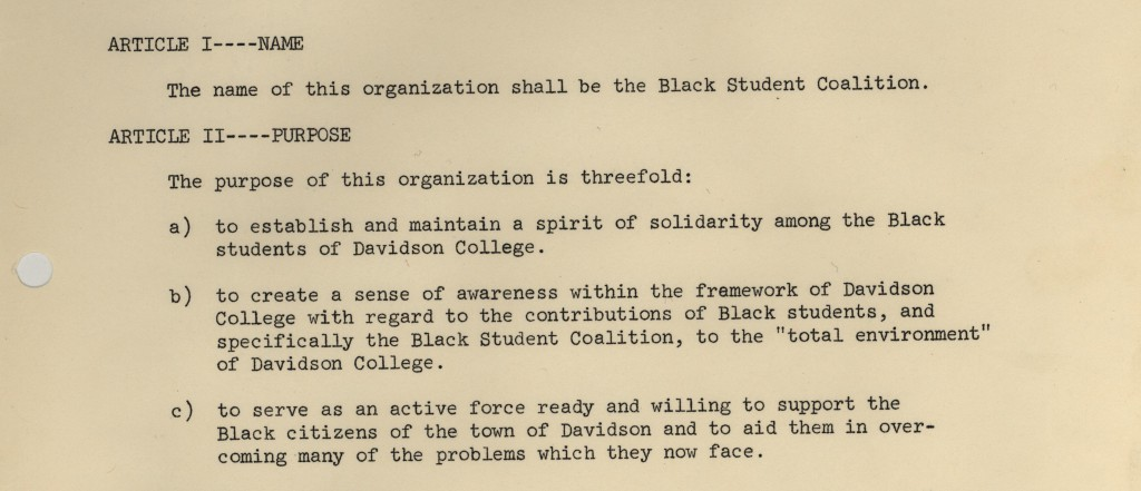 BSC Statement of Purpose 1967