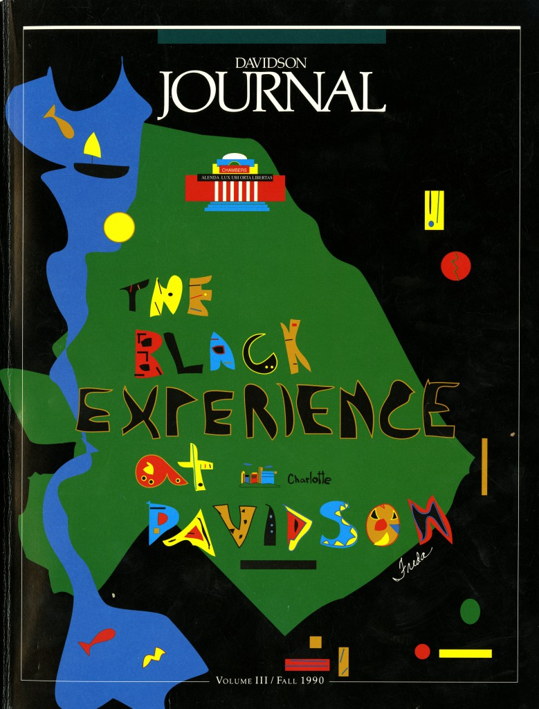 "The cover the Fall 1990 issue of the Davidson Journal: ""The Black Experience at Davidson"""
