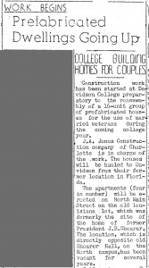 Davidson News Leader article from 17 August 1946.