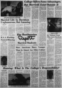 The November 8 1968 Davidson featured an entire page on married students.