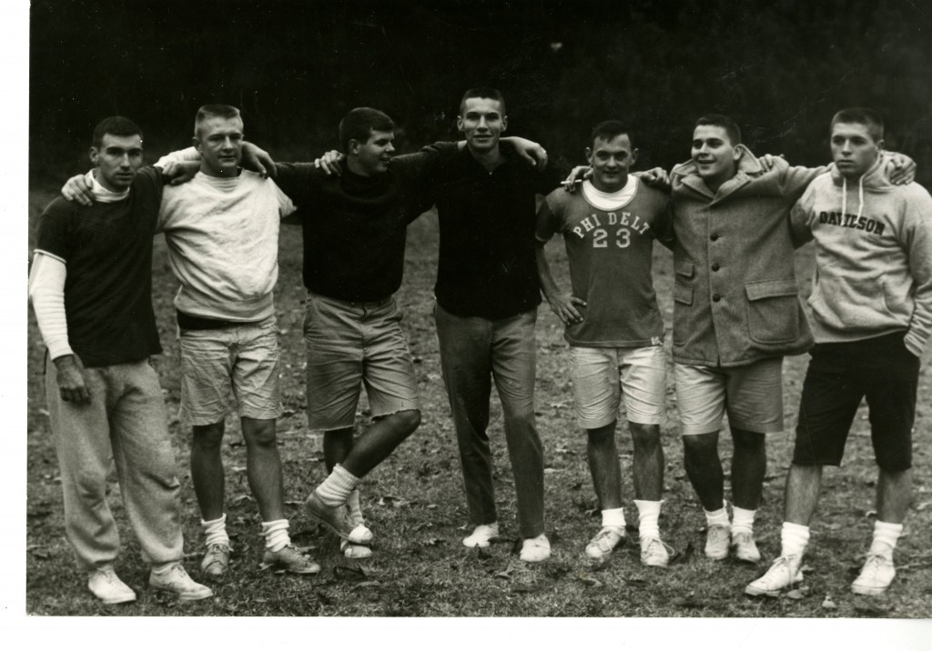 The Phi Delta Theta fraternity flickerball team, champs of the 1959-1960 season.