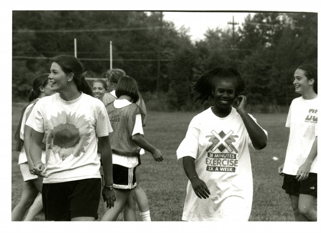 Davidson students honing their flickerball skills, circa 1990.