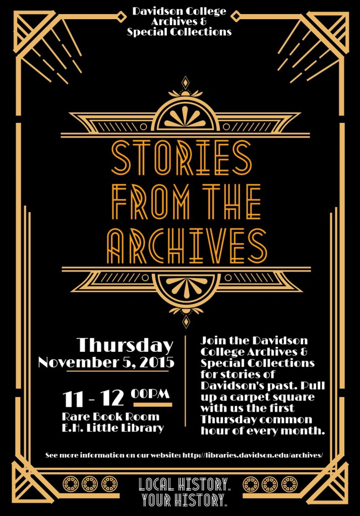 Flyer for the second Stories from the Archives.