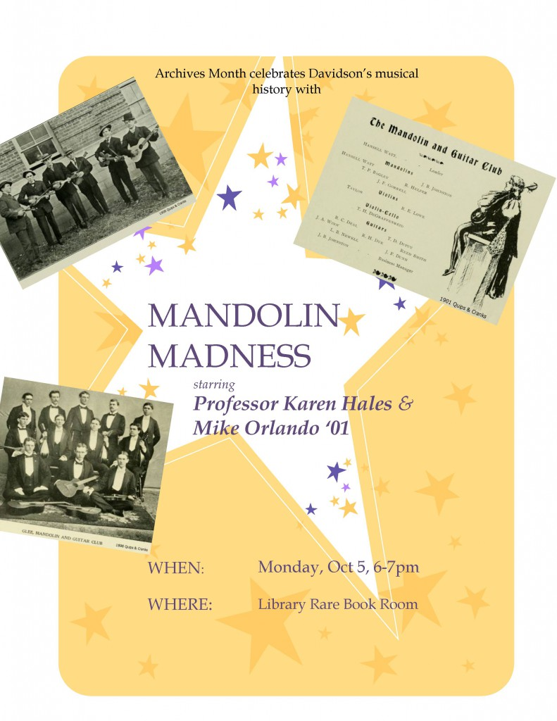 Flyer advertising Mandolin Madness.