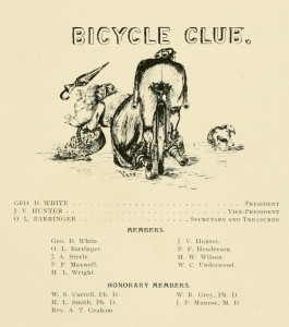 Club page from 1895 Quips and Cranks