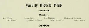 Biking faculty in 1900