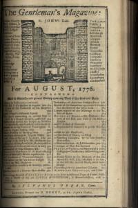 The Gentleman's Magazine August 1776
