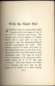 Night Mail first page