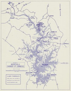 1963 map of newly created lake.