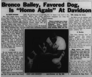 26 November 1951 Davidsonian story
