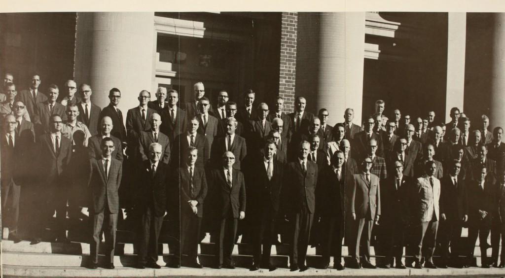 Davidson faculty in 1966