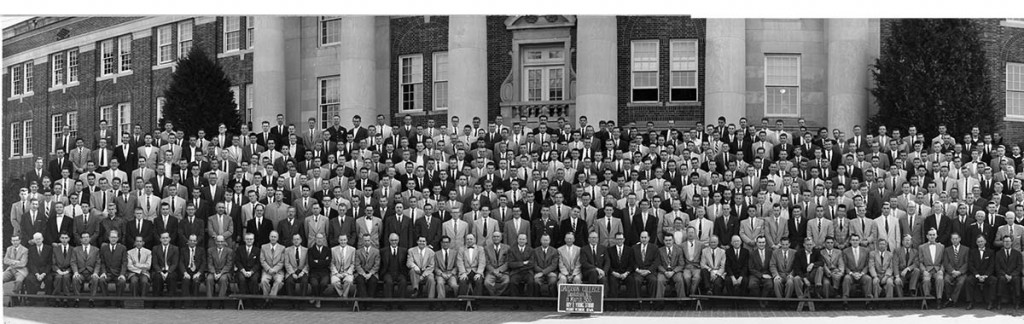Davidson students and faculty on 8 March 1955.