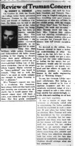 October 28, 1949 review in the Davidsonian.