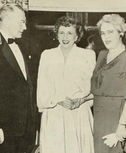 President and Mrs. Cunningham with Margaret Truman. From 1950 Quips & Cranks