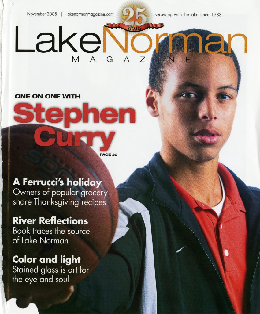 November 2008's Lake Norman Magazine featured Davidson's favorite basketball player, Steph Curry.