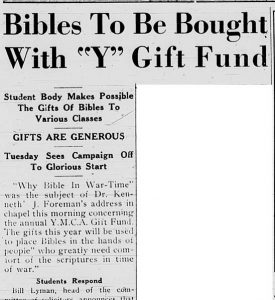 19 November 1941 article following up on the Gift Fund project.