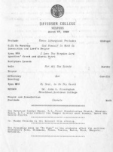 Vespers program 17 March 1946