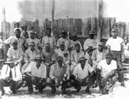 Early African-American baseball team from North Mecklenburg