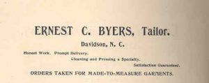 This ad came from the Davidson Monthly almost a century before Torrence's column.