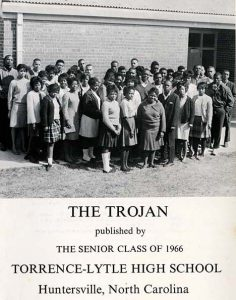 Yearbook staff in 1966 for Torrrence-Lytle School - copies of the yearbooks were loaned for scanning.