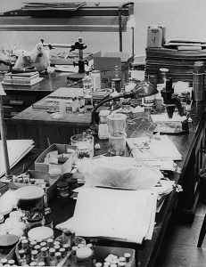 Science lab in the mid-20th century