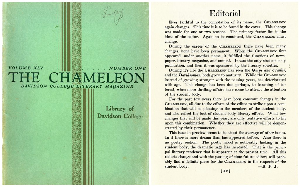 The cover and editorial of the February 1930 issue.