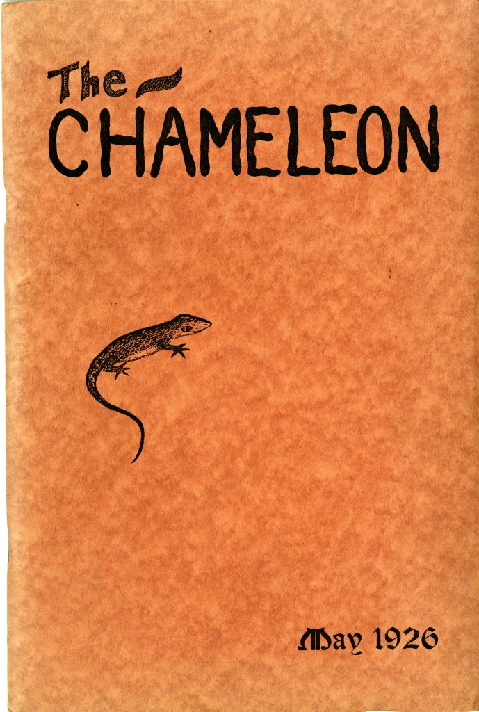 The first issue of The Chameleon, May 1926.