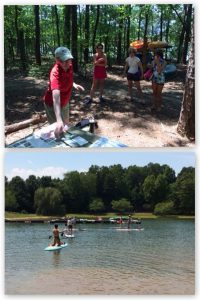 Jan leading a paddleboard tour of the history of Lake Norman in July 2015, in partnership with Davidson Parks and Recreation.